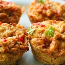 clean eating savory veg and tuna bake