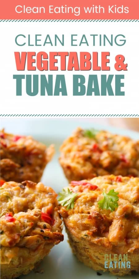 clean eating savory veg and tuna bake