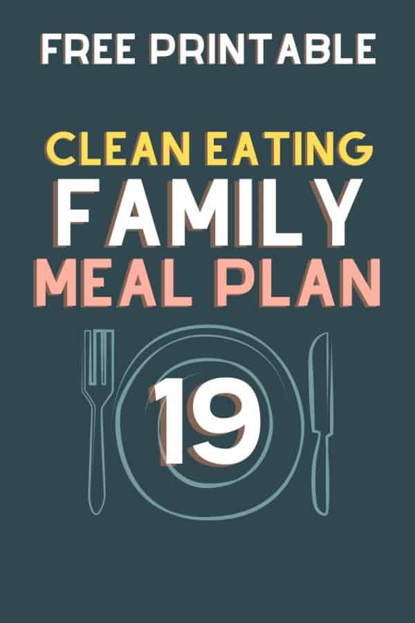 clean eating meal plan 19