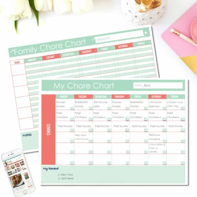 Free Printable Family Chore Chart
