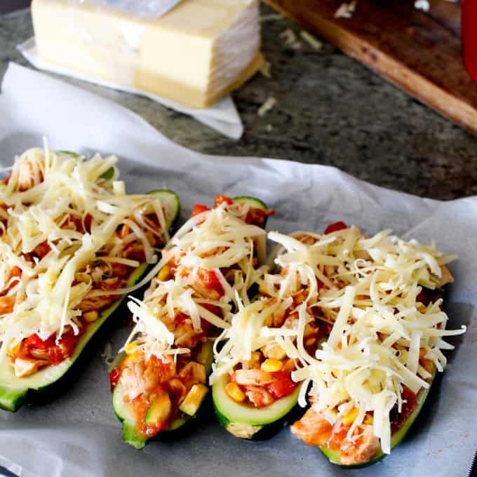 chicken stuffed zucchini boats