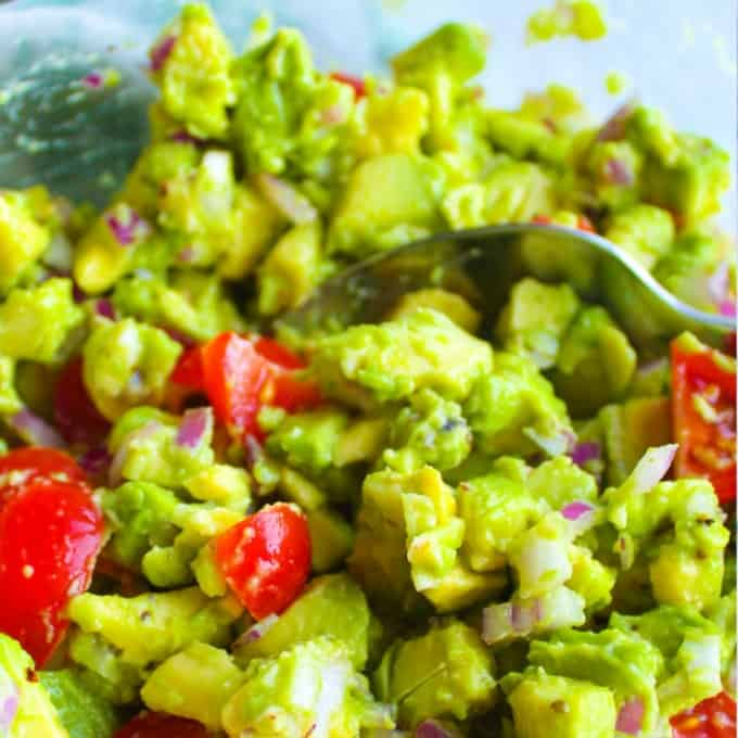 clean eating guacamole dip
