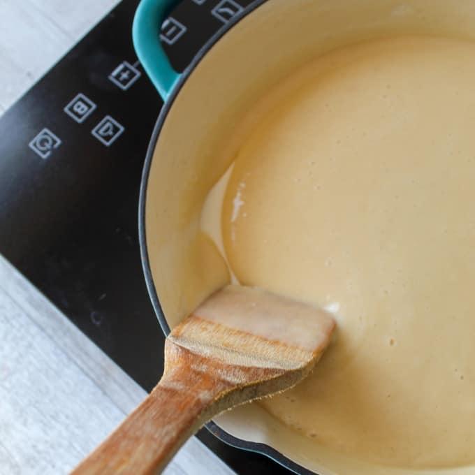 clean eating custard - dairy free almond milk custard