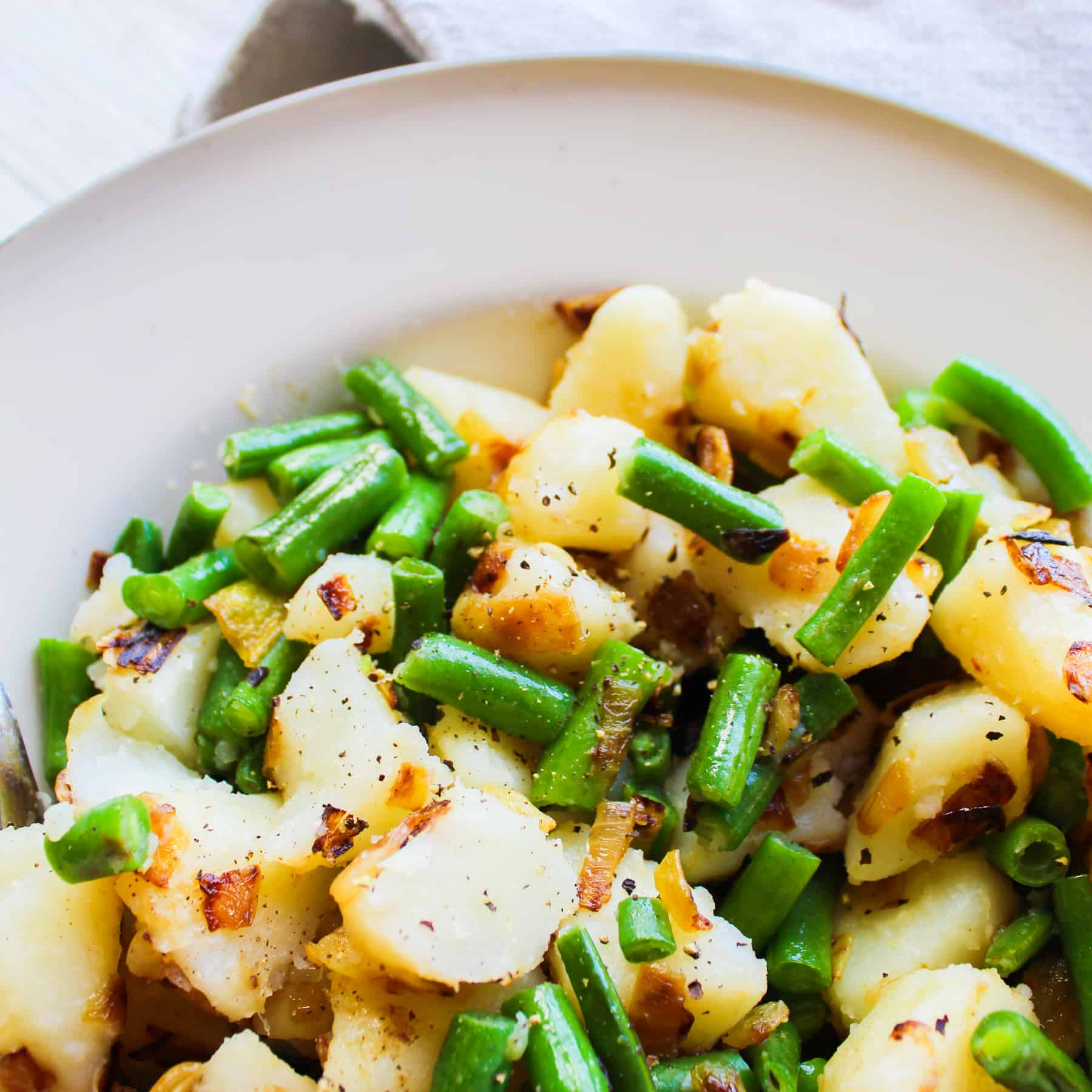 clean eating with kids - green beans and potatoes