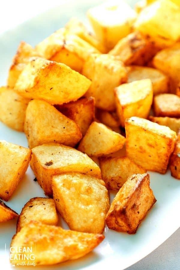 healthy crispy roast potatoes