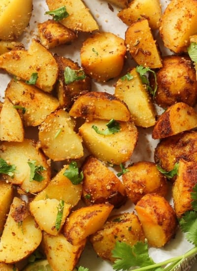 clean eating with kids - crispy roast potatoes2