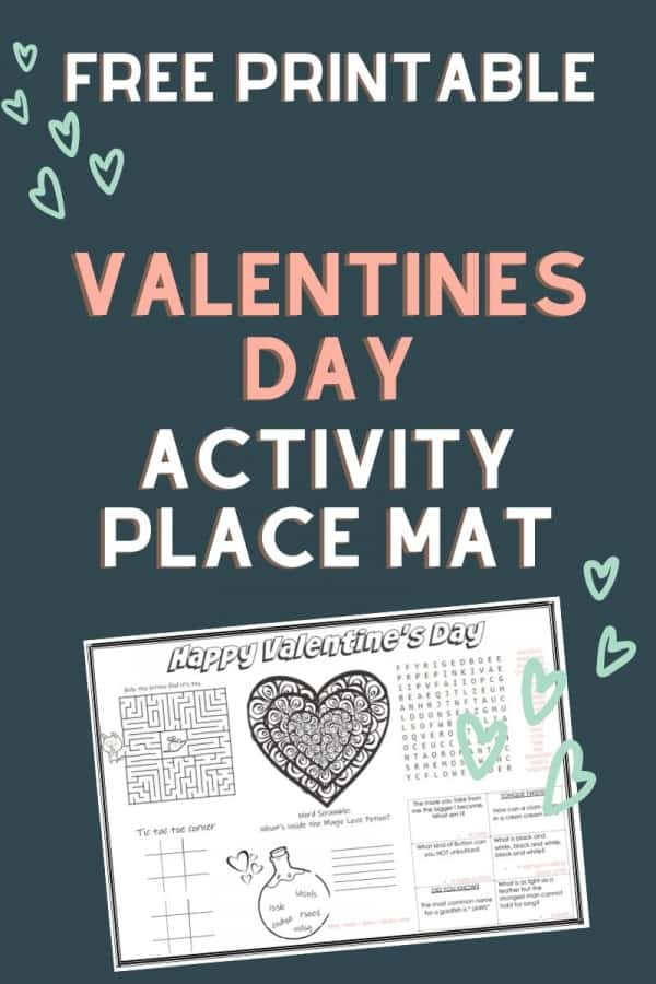 valentines activity mat - in case you can't get a babysitter