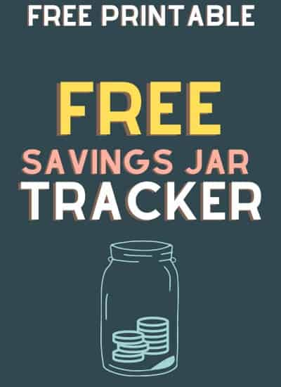 free printable savings jar tracker