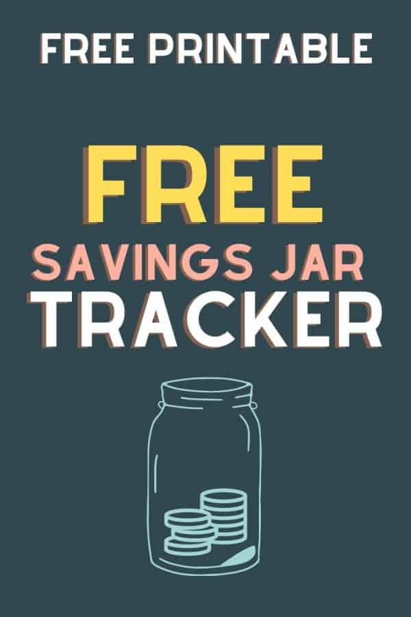 free printable savings jar tracker