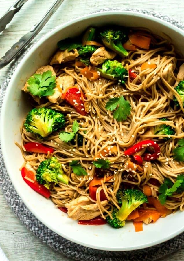 clean eating soba noodles