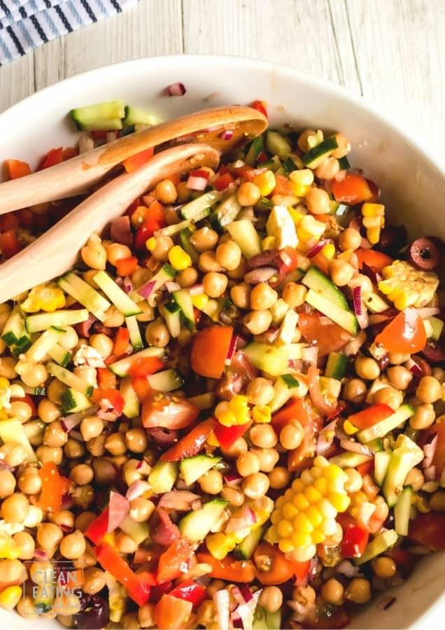 Clean Eating Chickpea Greek Salad
