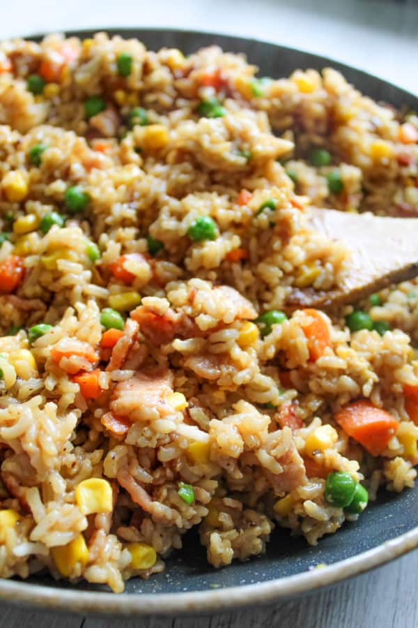 clean eating fried brown rice