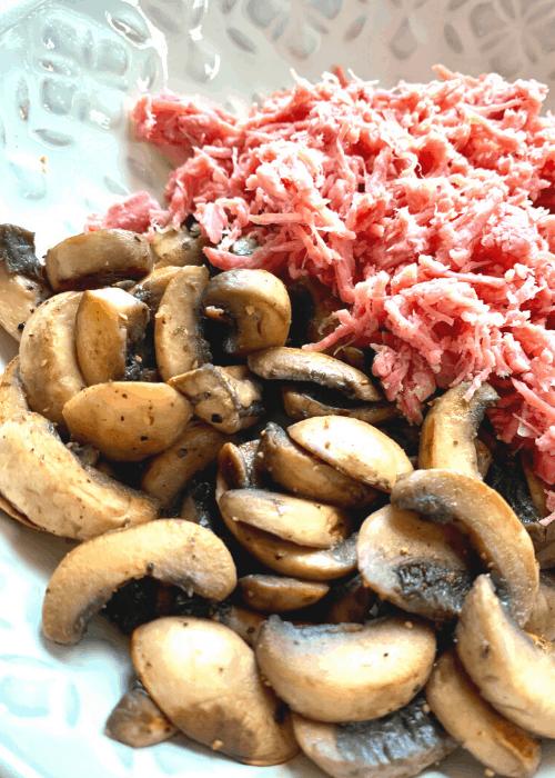 ham mushroom pasta