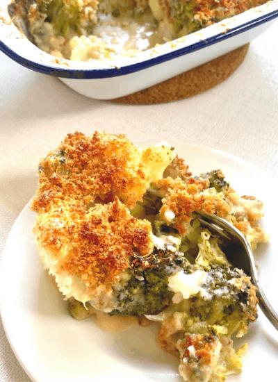 healthy broccoli cauliflower casserole