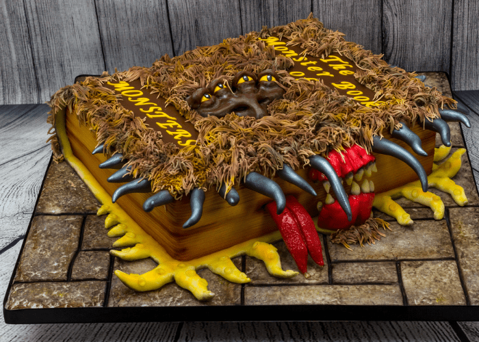 book of monsters cake