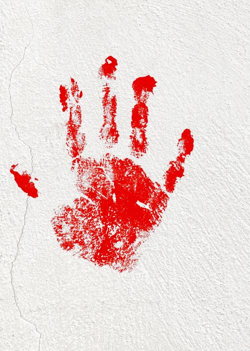 halloween hand print image