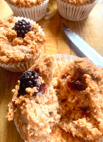 Blackberry And Apple Muffins