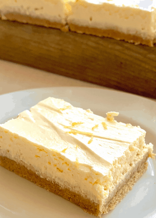 lemon curd bar slices