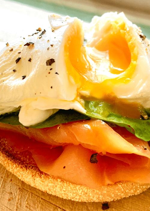 smoked salmon and eggs